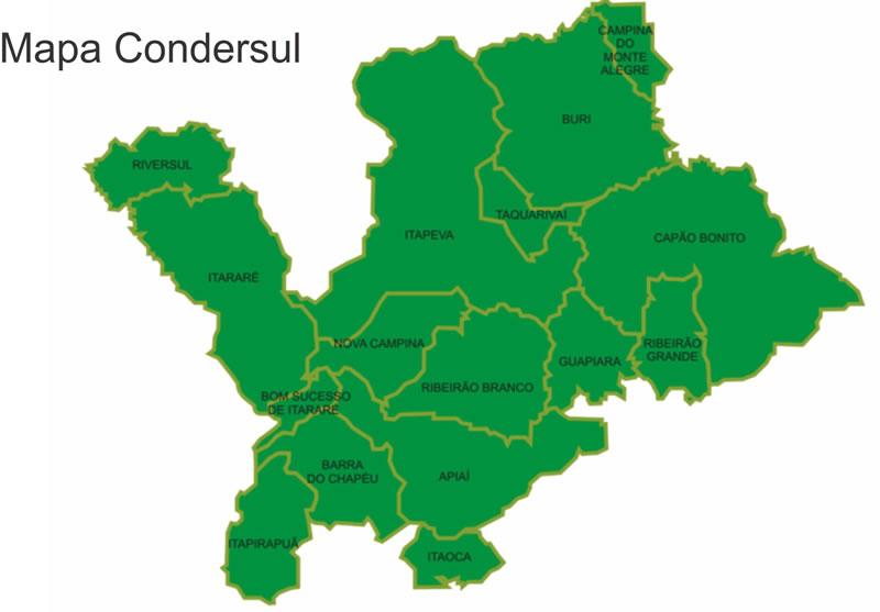 Mapa da Cidade de Nova Campina - Condersul