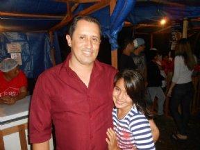 O prefeito e a filha Maria Clara