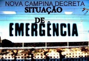Decreto Nº 1886, SITUAÇÃO DE EMERGÊNCIA NO MUNICÍPIO DE NOVA CAMPINA