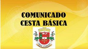 COMUNICADO CESTAS BÁSICAS