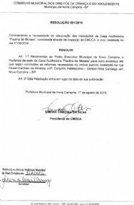 RESOLUÇÃO 001/2016
