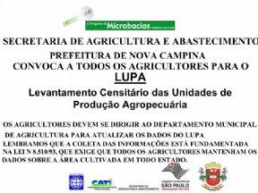 ATENÇÃO AGRICULTORES DE NOVA CAMPINA