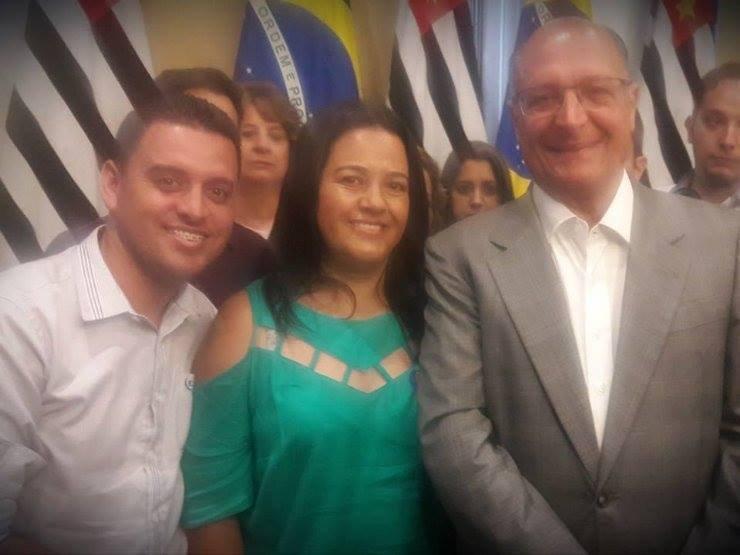 Foto da primeira reunião da prefeita Josi com o Governador Geraldo Alckmin no dia 05/01/2017