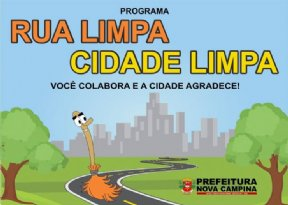 PREFEITURA INICIA PROGRAMA RUA LIMPA CIDADE LIMPA