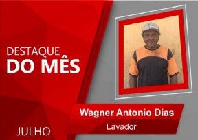 WAGNER É ELEITO FUNCIONÁRIO DESTAQUE DO MÊS DE JULHO