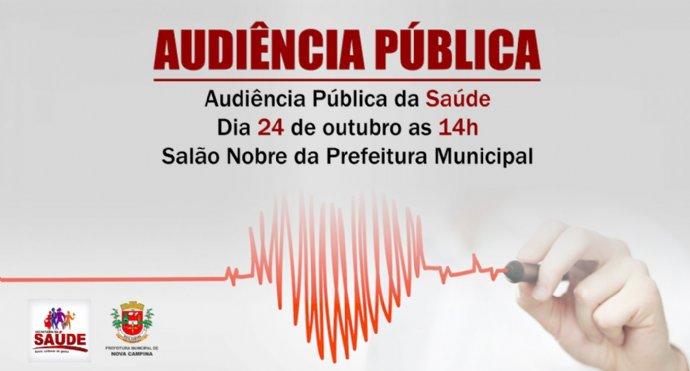 Secretaria de Saúde irá realizar Audiência Pública