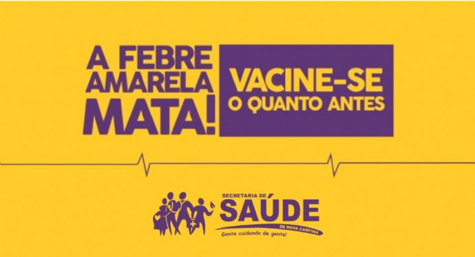 Secretaria de Saúde orienta sobre vacinação contra Febre Amarela