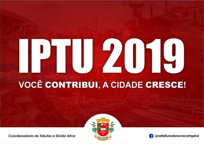 Comunicado IPTU 2019