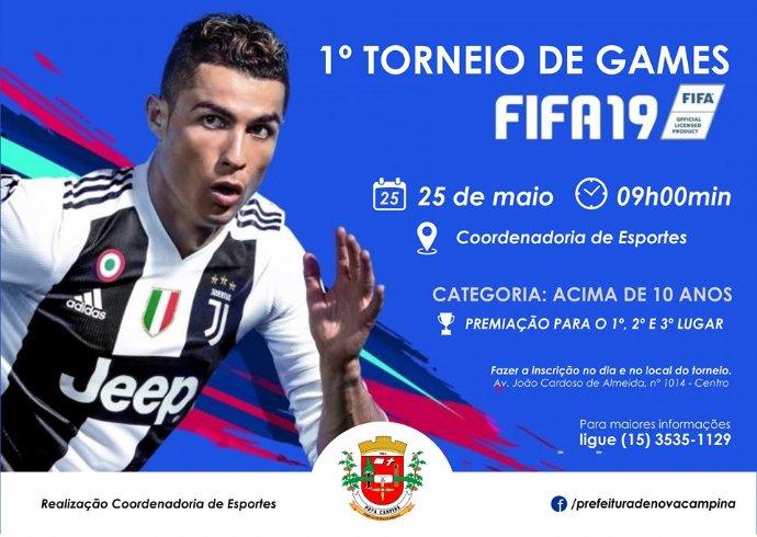 Prefeitura realizará 1º Torneio de Games – FIFA 19