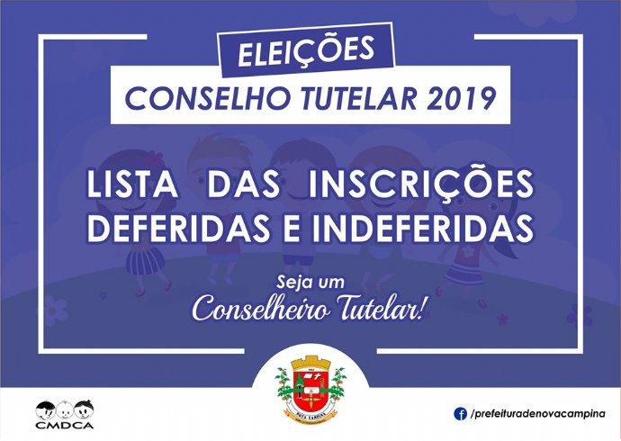 CMDCA divulga lista de candidatos com Inscrições deferidas e indeferidas ao cargo de Conselheiro Tutelar de Nova Campina