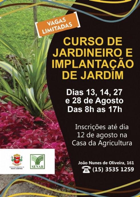 Curso de Jardineiro e Implantação de Jardim