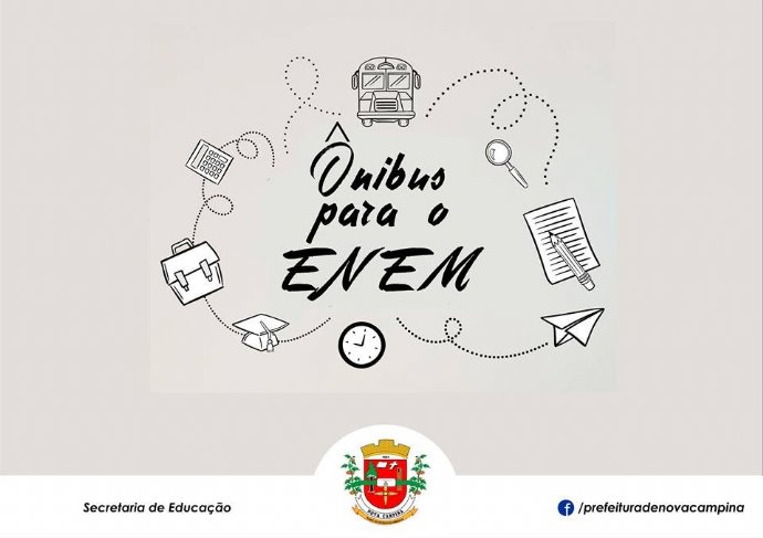 Prefeitura vai disponibilizar ônibus para realização de provas do ENEM