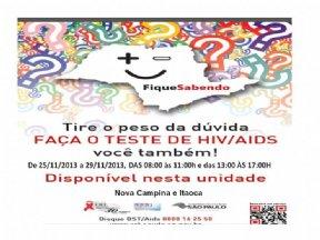 """CAMPANHA """"FIQUE SABENDO""""."""