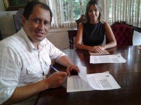 Prefeito Nilton assina convênio com Padaria Artesanal.