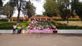 1ª Caminhada Rosa contra o câncer de mama.