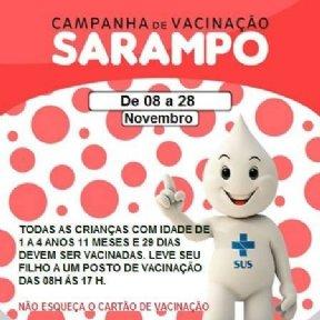 Campanha de vacinação contra Sarampo.
