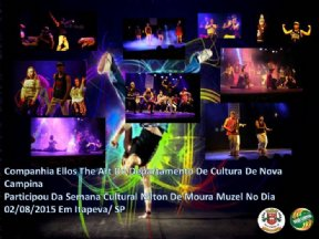Companhia ELLOS THE ART de Nova Campina participa da semana cultural em Itapeva