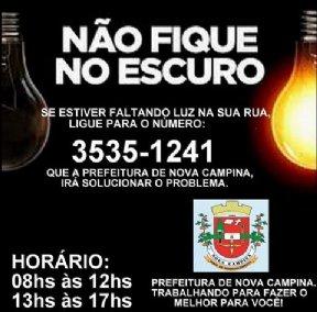NÃO FIQUE NO ESCURO!!