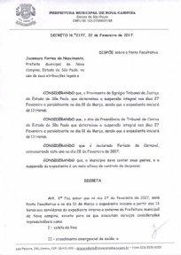 DECRETO Nº 2177 DE 22 DE FEVEREIRO DE 2017