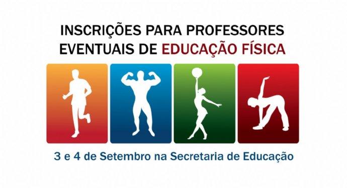 Secretaria de Educação abre inscrição para professor eventual de educação física