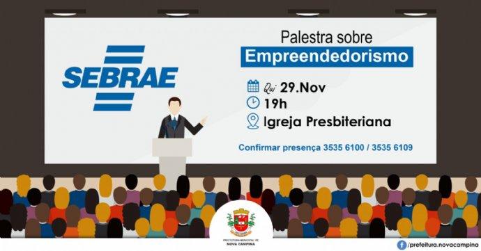 SEBRAE irá ministrar palestra sobre empreendedorismo