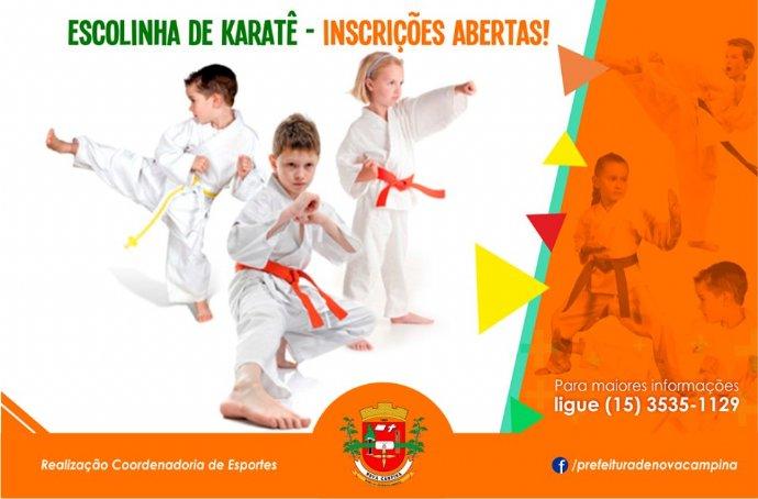 Inscrições para a escolinha de Karatê começam nesta quinta (21/02)