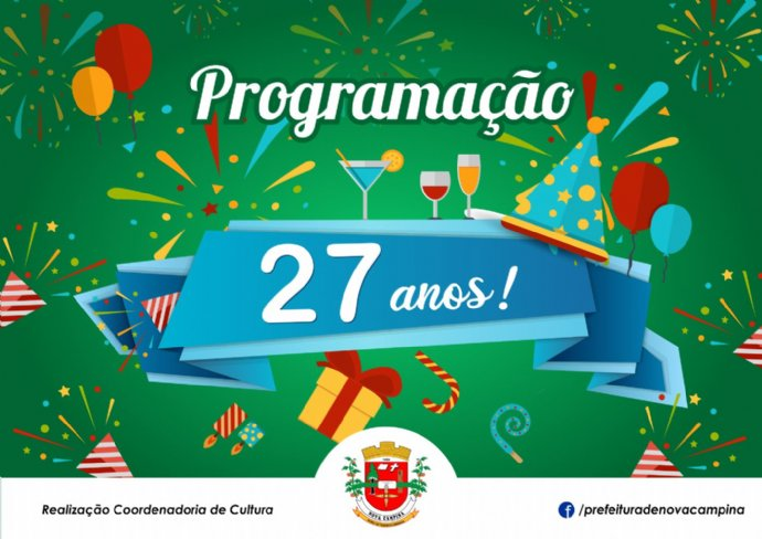 Prefeitura divulga programação de aniversário da cidade