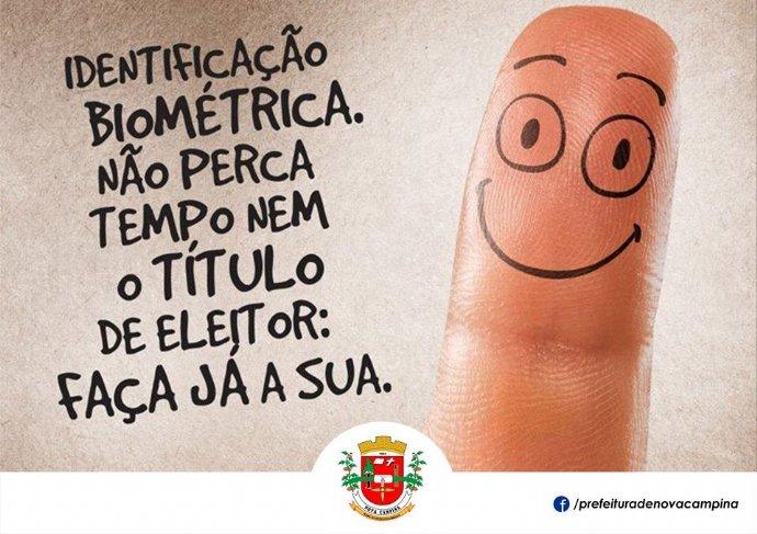 Justiça Eleitoral começa cadastramento biométrico obrigatório dos eleitores de Nova Campina