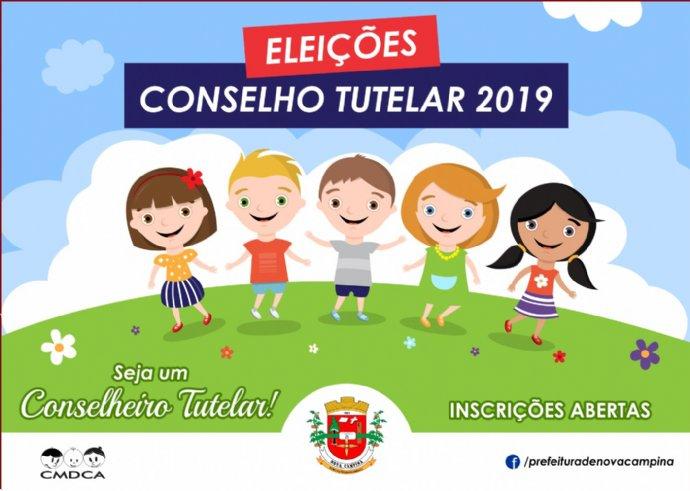 Abertas inscrições para eleição de novos membros do Conselho Tutelar de Nova Campina
