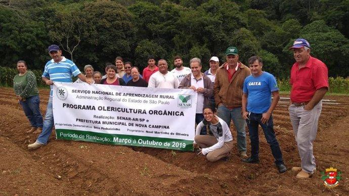 Programa sobre Olericultura Orgânica está sendo realizada no município