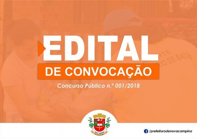 CONVOCAÇÃO CONCURSO PÚBLICO