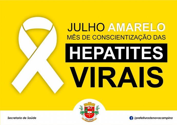 Prefeitura realiza ações do Julho Amarelo – Campanha de Conscientização das Hepatites Virais