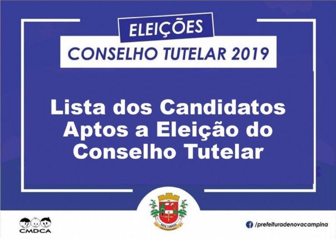 CMDCA divulga Lista dos Candidatos Aptos a Eleição do Conselho Tutelar