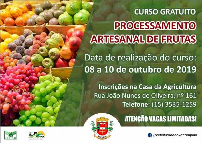 Curso de Processamento Artesanal de Frutas
