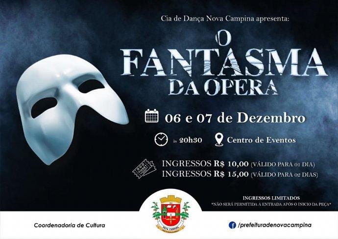 """Cia de Dança de Nova Campina apresenta espetáculo """"O Fantasma da Ópera"""""""