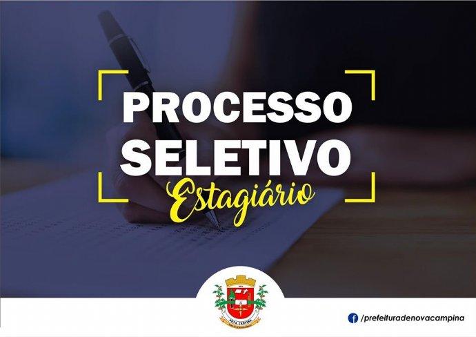 Prefeitura de Nova Campina lança novo Processo Seletivo de Estagiários