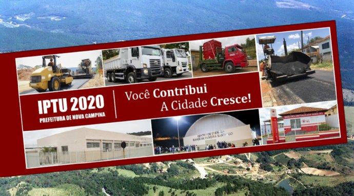 Carnês do IPTU 2020 estão disponíveis para retirada