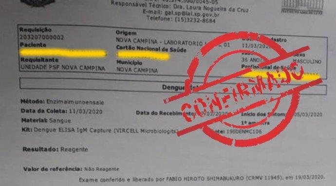 Secretaria de Saúde confirma o primeiro caso de Dengue no município