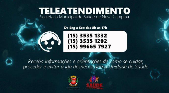 Secretaria de Saúde divulga telefones para Teleatendimento