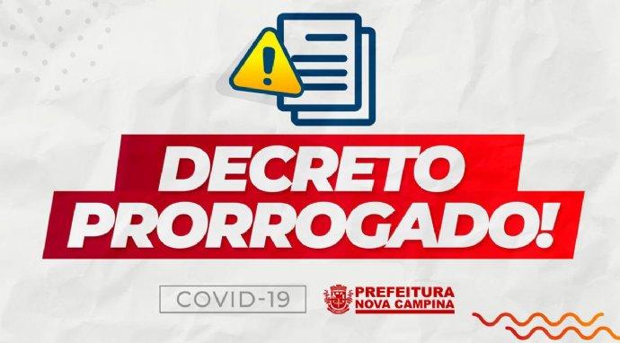 Decreto Municipal nº 2.835, fica prorrogado até o dia 22 de abril