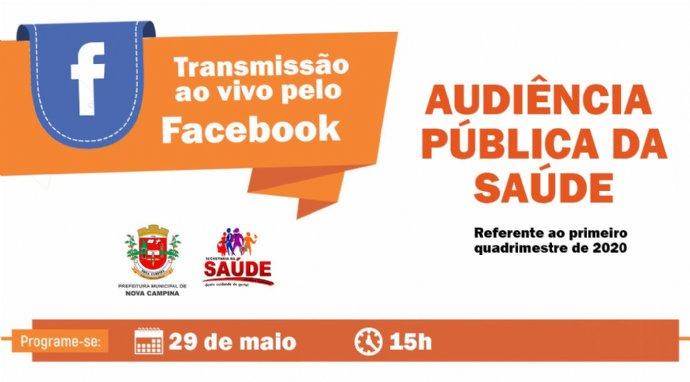 Audiência Pública da Saúde será transmitida ao vivo