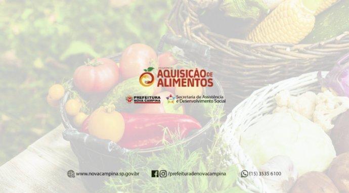PAA - Programa de Aquisição de Alimentos, inscrições abertas