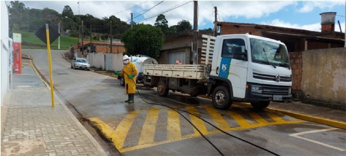 Sabesp promove sanitização na Unidade de Saúde, SAMU e Centro Covid