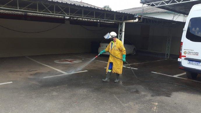 Sabesp realiza serviço de desinfecção no Paço Municipal
