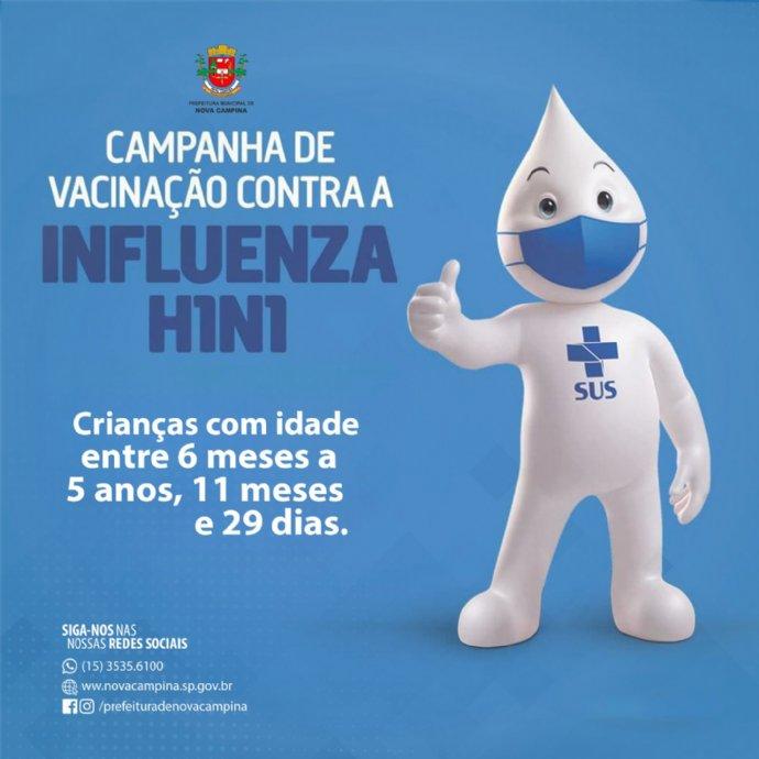 Vacinação contra a Influenza para crianças acontece amanhã, dia 24 de abril