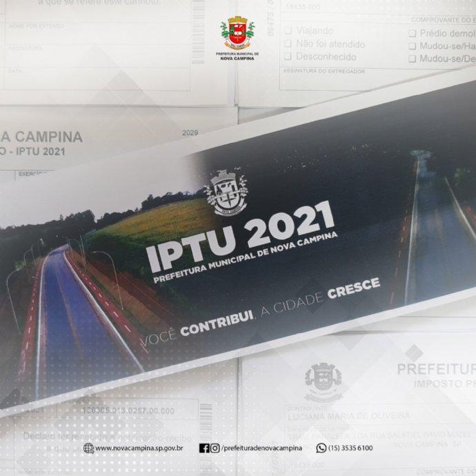 Carnês do IPTU 2021 estão sendo entregues