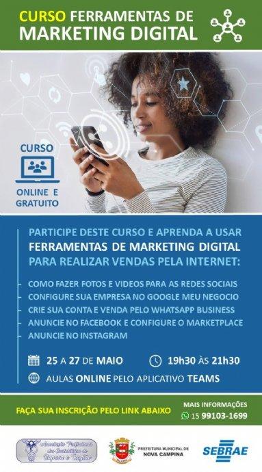 O Sebrae convida aos empreendedores (as) da região sudoeste paulista a participar do curso Venda mai