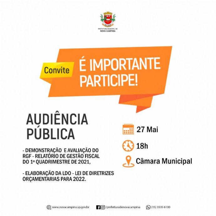 Aviso de Audiência Pública