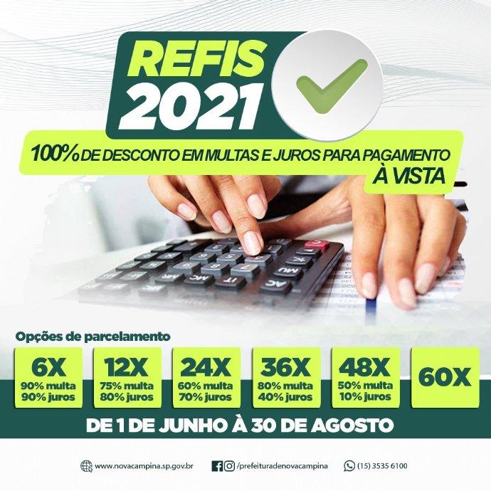 Município abre Refis 2021 para contribuintes quitarem dívidas