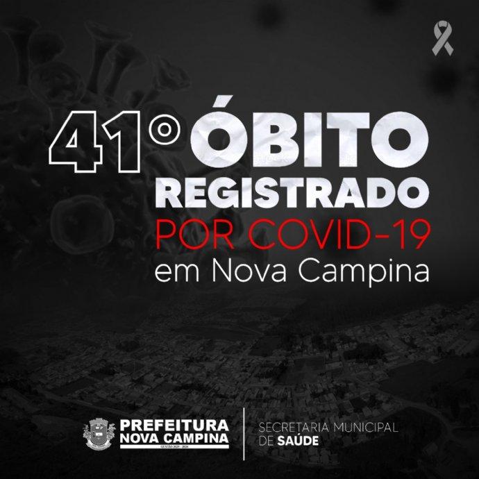 Nova Campina registra 41º óbito por Covid-19